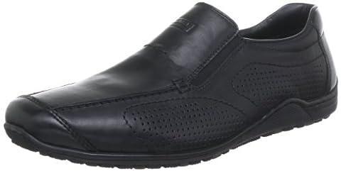 Rieker 08676 Loafers & Mocassins-Men, Herren Slipper, Schwarz (schwarz/nero/00), 43 EU
