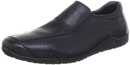 Rieker 08676 Loafers & Mocassins-Men, Herren Slipper, Schwarz (schwarz/nero/00), 40 EU