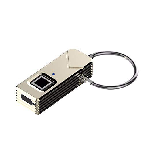 SUNGL GL Fingerabdruck-Verschluss, tragbares intelligentes biometrisches Vorhängeschloß Sicherheit kein Kennwort wasserdichtes und diebstahlsicheres Vorhängeschloß für Golftasche Koffer
