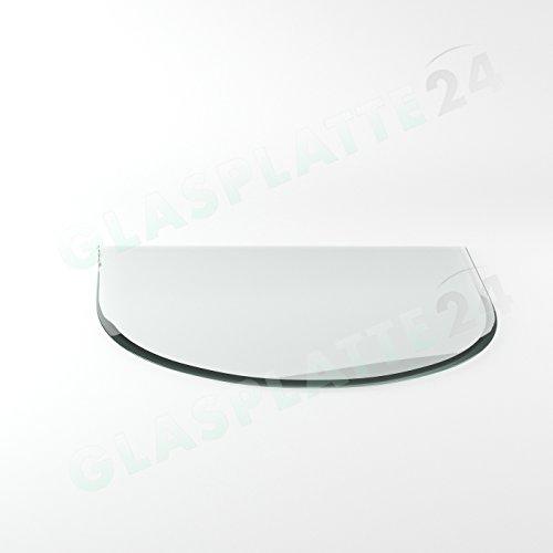 Preisvergleich Produktbild Funkenschutzplatte G16 Rundbogen ESG 6mm x 1100mm x 1000mm mit 18mm Facette Glasplatte Bodenplatte Kaminplatte Funkenschutz Ofenplatte Kaminglas