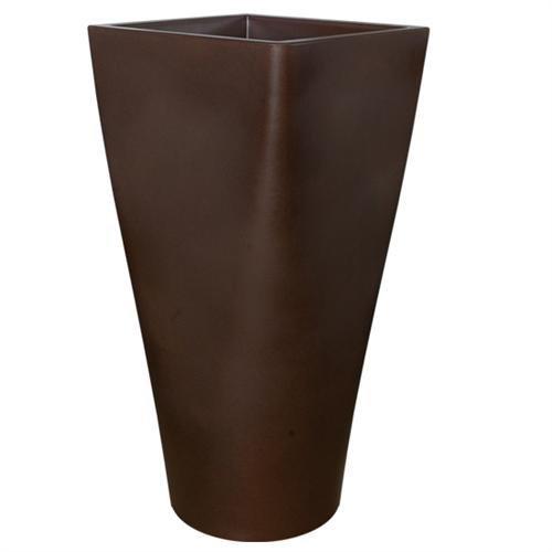 arredogiardini.it Pot Haut Rond Cadre Auriga – cm 50 x 50 x (Hauteur) en résine Plastique – Jardin intérieur Plantes fabriqué en Italie