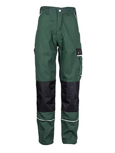 TMG Arbeitshose Herren Lang | Männer Bundhose mit Kniepolster-Taschen | Grün 50