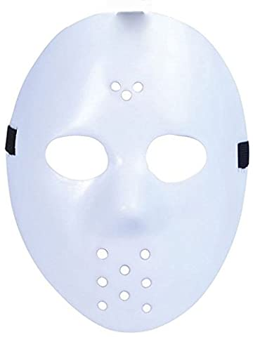 Ultra Fancy Dress Jason X vS Freddy Halloween Friday the 13th Hockey Masks in Silver Gold White Bronze Colours Adults PVC Quality Mask with velcro elasticated strap Face Mask Fancy Halloween Costumeplay by Ultra (1 Mask) (Plain