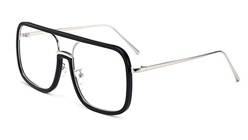 Alittle Klassische Nerd Brille runder Brillenrahmen 40er 51er Panto Brille Retro Optik transparente Schutzaugen
