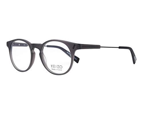 Kenzo Brille (KZ-2247 04) Acetate Kunststoff - Metall geräuchert grau - matt schwarz