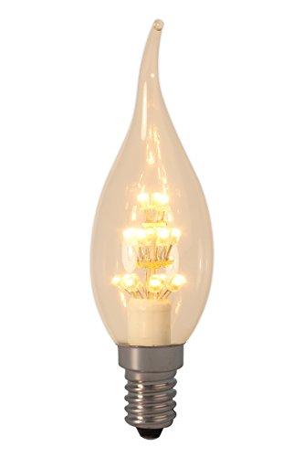 Mit Warenzeichen versehene Perl-LED Kerzenleuchtmittel 240V E14 BXS35, 17 LEDs 2100K - KOSTENLOSE SU