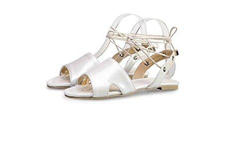 Beauqueen Sandales Femme Printemps Et Eté Plastique Bracelet Femme Rose Blanc Rouge Bleu Occasionnels Chaussures De Vacances Spécial Taille Europe Taille 34-48 White