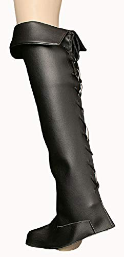 T2805 schwarz Herren Stulpen Stiefelstulpen (Königs Knecht Kostüm)