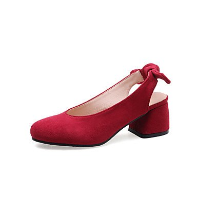 RTRY Donna Comfort Tacchi Suole Luce Similpelle Estate Autunno Casual Office &Amp; Carriera Vestito Comfort Suole Luce Bowknot Gore Chunky Heelalmond US5 / EU35 / UK3 / CN34