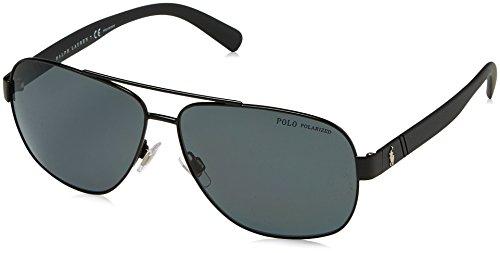 Polo Ralph Lauren Herren 0Ph3110 926781 60 Sonnenbrille, Schwarz (Demiglos Black/Polargrey)