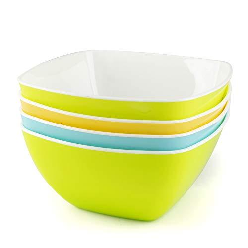 Maxi Nature Kitchenware Müslischalen Frühstück, individuelle Plastikschüsseln für Snacks, Popcorn, Dessert oder Suppe, hochwertiges Campinggeschirr - 4er Set