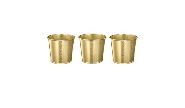 10 x IKEA BINTJE in Acciaio Zincato Metallo vasi di piante 9cm