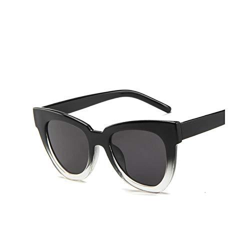 Sportbrillen, Angeln Golfbrille,Fashion Cat Eye Sunglass Women Men Vintage Mirror Sunglasses Women Brand Designer Retro Sun Glasses Goggles Eyewear UV400 Gray