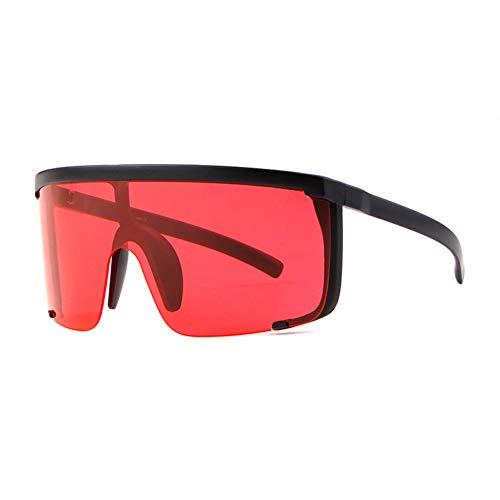 CCTYJ Sonnenbrillen Übergroße Shades Shield Sonnenbrille Frauen Big Style Half Frame Black Sonnenbrille Sommer Schützen Augen