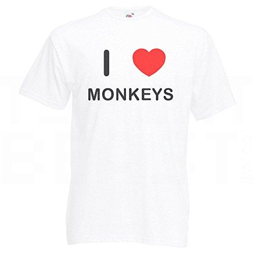 I Love Monkeys - T-Shirt Weiß