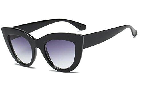 LPUK Damenmode Cat Eye Sonnenbrille Damen getönte Linse Vintage-förmige Designer-Sonnenbrille polarisiert 400 UV-Schutz