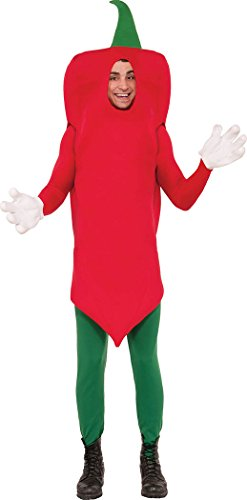 Unisex Chilli Pepper Kostüm Herren Damen mexikanisches Kostüm Hot würzig Outfit Größe 42 - Für Erwachsenen Chili Pepper Kostüm