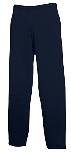 Fruit of the Loom Jogginghose mit offenem Beinabschluss, Deep Navy, Gr.XXL