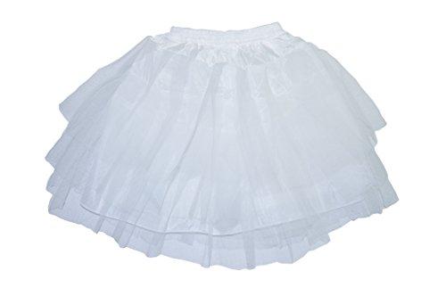 ichten Tulle Petticoat-Krinoline Unterrock für Mädchen-Frauen (Weiß) (Petticoats Für Mädchen)