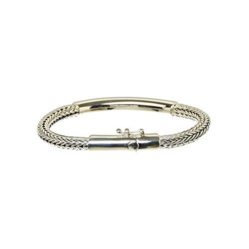 Bouddha to Light Biker Bracelet Argent Sterling Handmade Wire Tube eie 219eur