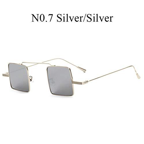 DAIYSNAFDN Rose Gold Quadrat Sonnenbrille Frauen Vintage Designer Mode Farbe Objektiv Sonnenbrille N0.7