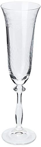 Bohemia Kristall Gläser - Royal - 6 er Set- mit verschieden Ornamenten (Sektgläser 6 x 190 ml)