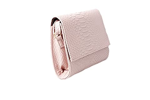 Accessoryo - Femmes rose croc effet texture sac à main épaule