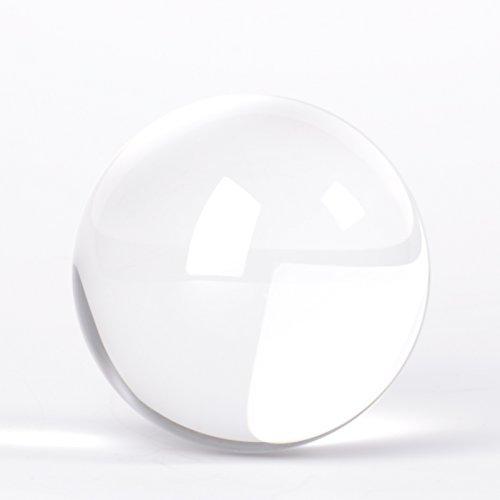 Originaler Lensball Pro 80mm Durchmesser, Glas Klare K9 Kristall Kugel mit Mikrofaser Beutel Zum Tragen und Säubern, Fotografie Zubehör