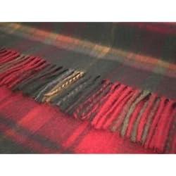Manta de lana de cuadros escoceses Bronte Pure alfombra - oscuro de arce
