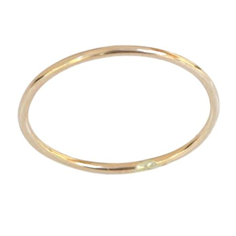 14k Gold Filled 1mm Thin Plain Band Toe Ring (D)