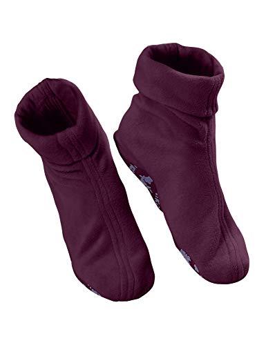 Raikou warme Hausschuhe (für Damen, Herren und Kinder)(43-46, Granat)