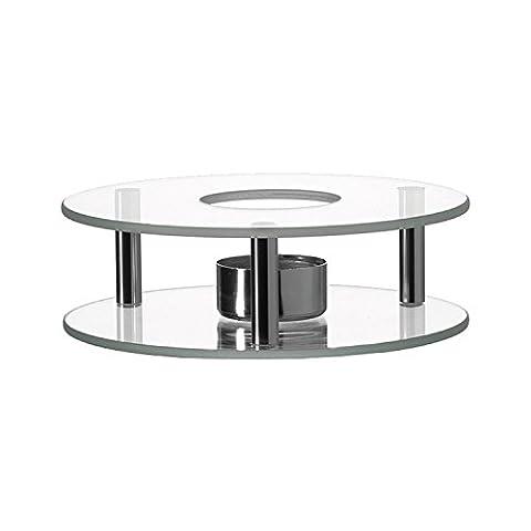 Leonardo - Scaldino - Stövchen - Glas & Edelstahl - für sämtliche Teekannen geeignet