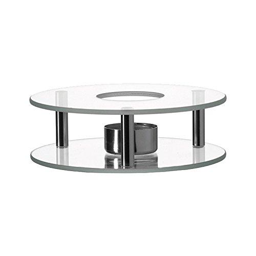 Leonardo – Scaldino – Stövchen – Glas & Edelstahl – für sämtliche Teekannen geeignet