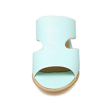 LvYuan Da donna-Pantofole e infradito-Casual-Altro-Quadrato-PU (Poliuretano)-Blu Rosa Bianco White