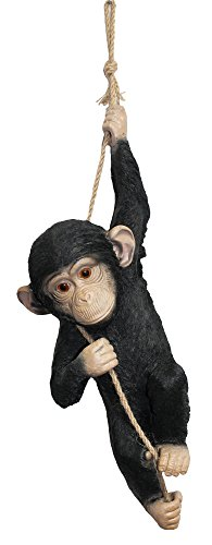 colourliving® Dekofigur Affe Schimpanse am Seil Gartenfigur Dekorationsfigur Tierfigur