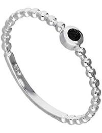 Sterlingsilber & Granat CZ Kristall Januar Geburtsstein Perlen Bandring 48 - 63