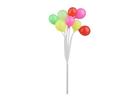GHJFGJNF 1 Bund Mini Ballon Kunststoffrohr Runde Haushalt Party Cup Kuchen Dekoration (bunt)...