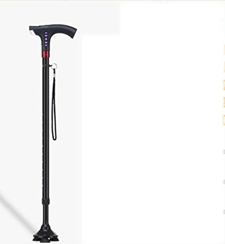 Alter Mann des Pfahls Vier Füße Drehen Sich Um Spazierstock des Teleskopstockes des Teleskopstocks Alten Hellen Beleg Nicht Stockstock ()