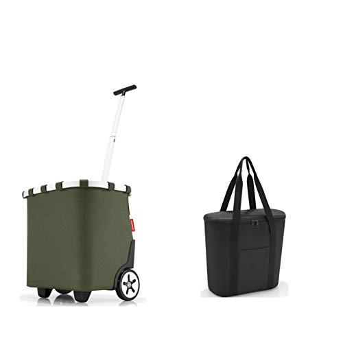 perfektes reisenthel Einkaufs-Taschen-Set 2tlg. reisenthel carrycruiser/Einkaufstrolley und GRATIS reisenthel Isotasche/thermoshopper in trendigen Designs (urban Forest)