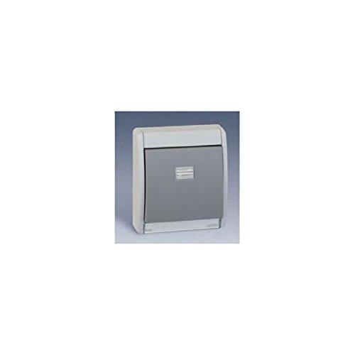 Simon 4400010-035 - Marco Con Tecla Simple Gris S.44 Aqua