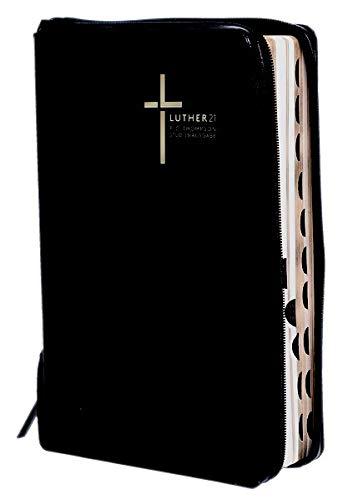Luther21 - F.C. Thompson Studienausgabe: Luther21 - F.C. Thompson Studienausgabe - Großausgabe - Cromwell-Leder schwarz - Goldschnitt - Griffregister - Reißverschluss