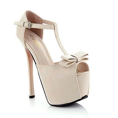 CH&TOU Da donna-Sandali-Matrimonio Formale Serata e festa-Plateau Comoda Cinturino alla caviglia-A stiletto-PU (Poliuretano)-Rosa Bianco white