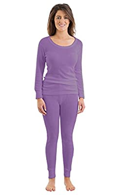 Womens/Ladies Thermal Underwear Set Long Sleeve Vest & Long Janes/Pants, Various Colours & Sizes