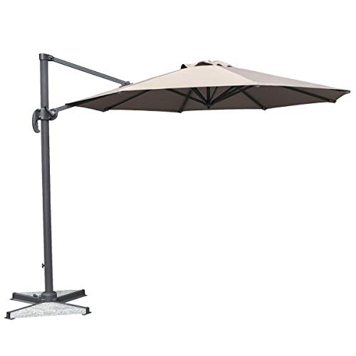 Mayfair 3m Cantilever Parasol with Granite Base - Taupe