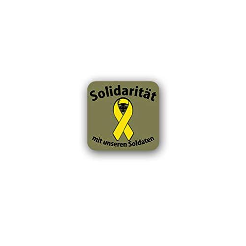 Aufkleber/Sticker Gelbe Schleife Solidarität mit unseren Soldaten 7x7cm A3092 -