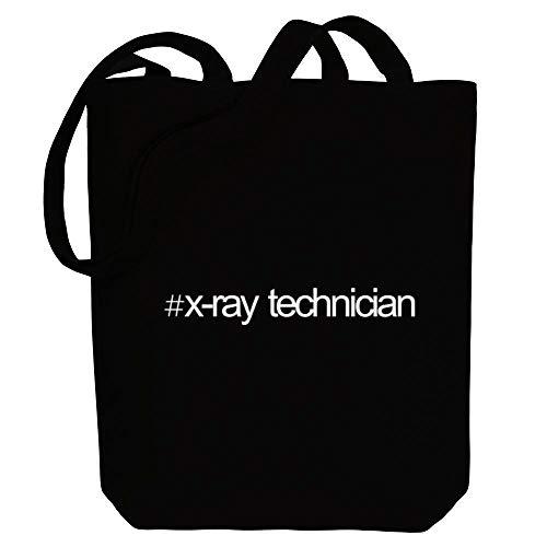 Bold X-ray (Idakoos Hashtag X Ray Technician Bold Text Einkaufstaschen 10.5