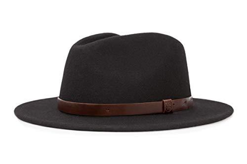 Brixton Hat Messer MESSER  black, M (Filz Fedora Hüte)