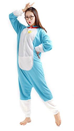 Imagen de yarbar kigurumi pijamas unisexo adulto traje disfraz de halloween animal pyjamas doraemon alternativa