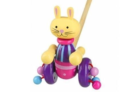 Orange Tree Toys - Figurine Lapin Hochet à Pousser Jouet Neuf