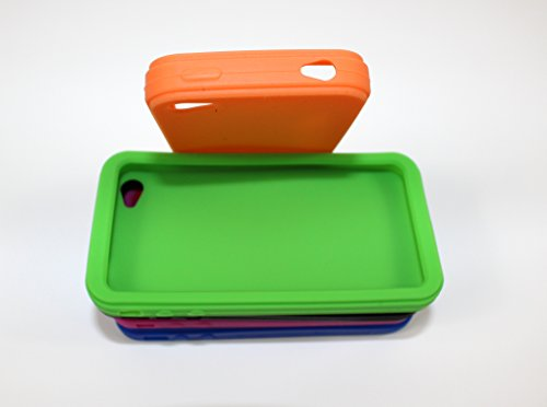 In Silicone per telefono cellulare & per iPhone 4 4s, cover morbida e flessibile Arancione Arancione